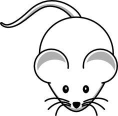 Simple Cartoon Mouse clip art - vector clip art online, royalty free & public domain