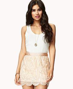 Beaded Southwestern Mini Skirt    $49.80