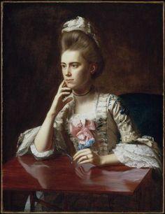 Mrs. Richard Skinner (Dorothy Wendell), by John Singleton Copley, 1772, American. Museum of Fine Arts, Boston.