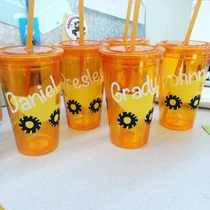 Custom tumblers. Great party favors! #etsy #etsyseller #etsyseller #tumblr #kids #gifts #construction #dumptruck #blueoakcreations See More Goodies at: www.blueoakcreations.com