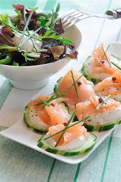 1000 images about canapes on pinterest caldo de pollo for Canape de salmon