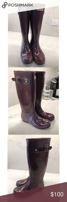 Womens Tall Hunter Rain Boots Brand New! My husband bought them for me but I never got the chance to wear them. Still in the box. Hunter Shoes Winter & Rain Boots