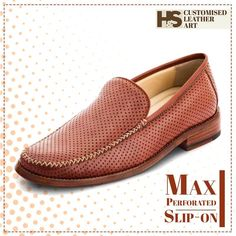 Breathe with this unusual perforated Slip-on.