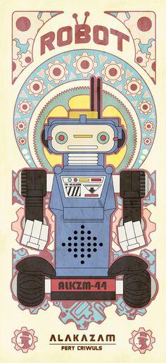 La Carpa — Vintage Robot by fery criwuls