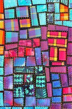 Mini Quilt Mosaic tutorial