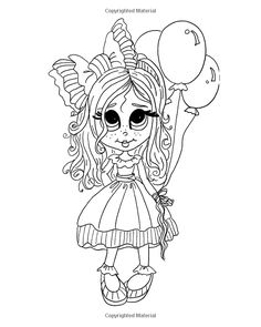 "Lacy Sunshine's "" The Boo's"" Coloring Book Volume 3: Whimsical Big Eyed Girls…"