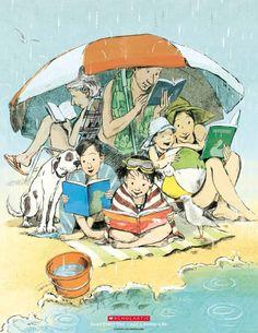 "Nancy Carpenter's interpretation of ""Read Every Day. Lead a Better Life."""