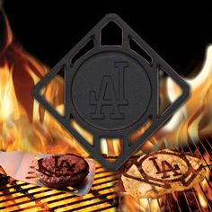 L.A. Dodgers Hamburger BBQ Brander - have to get this for dad!!