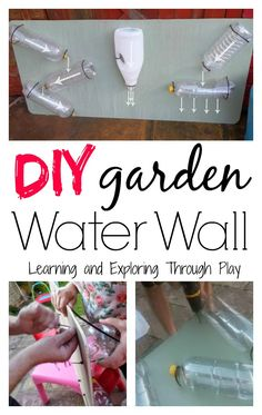 DIY Garden Water Wall. Outdoor Fun for Kids. Garden Feature for outdoor water play and learning. Learning and Exploring Through Play.