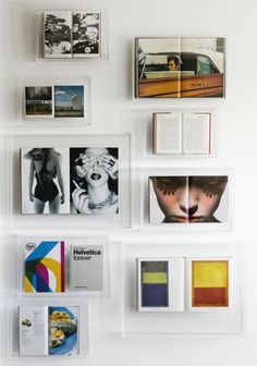 Make a display of your prized coffee table tomes, art books and favourite magazine spreads with Boox perspex wall display frames. Cleverly h...