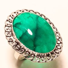GREEN AGATE GEMSTONE 925 SILVER RING #Ringly #ClawRing