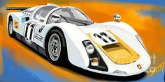Porsche Carrera race car by Daryl Thompson