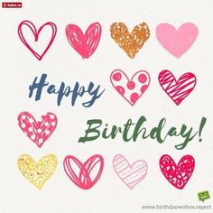 Heart filled birthday wishes