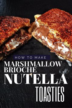 This Nutella and marshmallow brioche toastie recipe is pure filth Nutella, marshmallow, banan, brioche – the S'moregasm is the ultimate grilled sandwich. Grill Sandwich, Toast Sandwich, Grilled Sandwich Recipe, Nutella Sandwich, Sandwich Shops, Sandwich Recipes, Nutella Cake, Sandwich Ideas, Sandwiches
