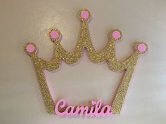 Princess Crown photobooth frame with name