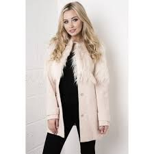 Image result for faux fur shaggy jacket purple