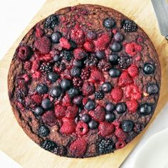 Dark chocolate forest fruit cake.... indulgent but super healthy and vegan.