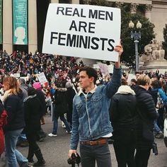 Hate the whole 'real' men/women thing, but yeah... Decent men are and should be feminists. 'Feminist' is the one term that ties all of our struggles together and succinctly points out the common threads that uphold and further promote injustices and inequality in our cultures. (h/t @beatsexism) #feminist #feminism #feministmen #feminismisforeveryone #womensmarch