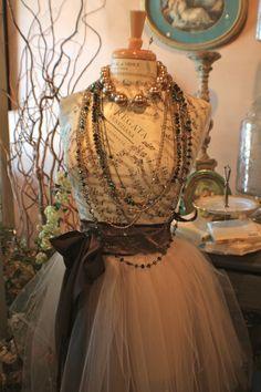 Pretty Dress Form ~ via Hearts of Glass