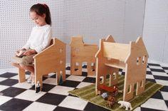 Paloma's Nest neighborhood chairs double as dollhouse