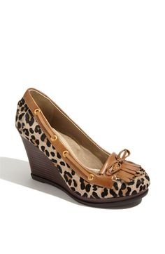 Sperry Fairwind Wedge Loafer- need in leapard and black :)