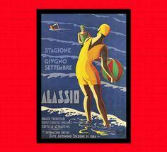 BUY 3 GET 1 FREE Italy Travel Print  by VintageWallGraphics