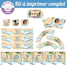 kit à imprimer vaiana Moana, Etiquette, Disney Pixar, Party Time, Little Girls, Birthdays, Printables, Disney Princess, Ladybug