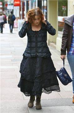 helena bonham carter  #Boho in black. ;) I've always loved her mad style! Can I be mad too, pleeeease?!