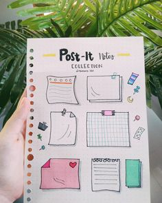 Post It Note doodles for your Bullet Journal