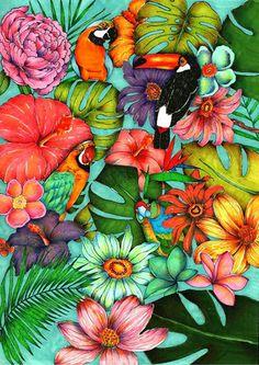 Labaribaruska / Ilustración / Tropical / Covers / portada / Cuaderno / Notebook / Miquelrius / Concurso / Competition / Ana Jarén