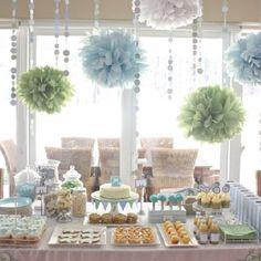 Mint green - dessert table.. soft pastel colours