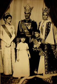 Iranian Royal Family (1967) ~ Mohammad Rezā Shāh Pahlavi, Shah of Iran, Shah of Persia (October 26,1919 – July 27, 1980), ruled Iran from September 16, 1941 until his overthrow by the Iranian Revolution on February 11, 1979. He was the second and last monarch of the House of Pahlavi of the Iranian monarchy.