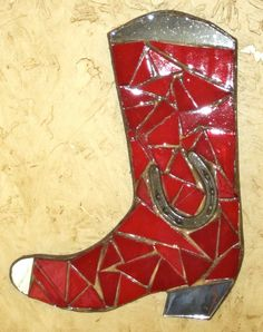 Mosaic Boot Wall Hanging. $45.00, via Etsy.