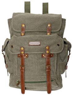 Large Army Style Military  Backpack Olive Rusksacks 704