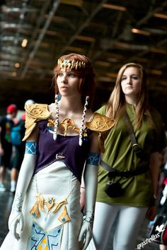 Princess Zelda and female Link french cosplayers | #crossplay
