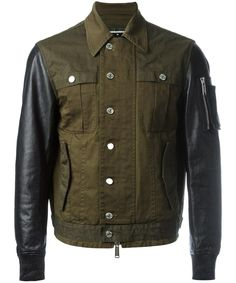 DSQUARED2 Dsquared2 Men'S  Green Cotton Outerwear Jacket'. #dsquared2 #cloth #coats & jackets