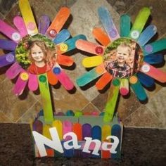 Popsicle Stick Flower Box {Kids Crafts} by charlotte