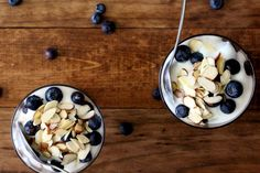 Blueberry Almond Oatmeal Parfait
