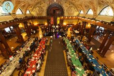 Flagler College recreates Great Hall event from Harry Potter.