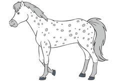 bibi und tina ausmalbilder pferde 04