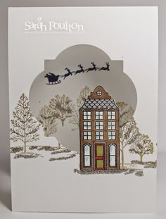 Stampin' Sarah!: Lovely as a Tree meets Holiday Home Christmas Card...