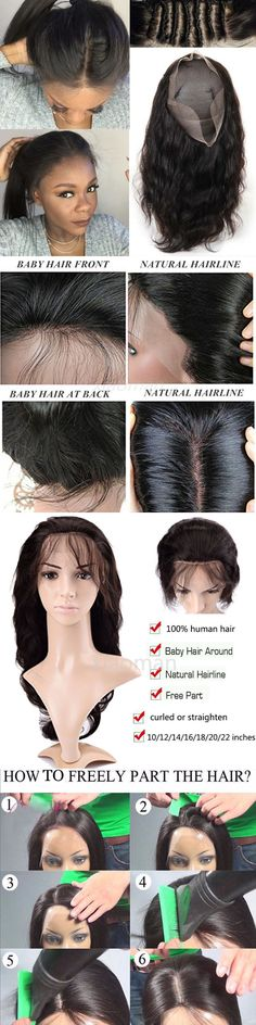 Wigs and Hairpieces: Black Womens Long Human Hair Full Lace Front Wigs Brazilian Virgin Hair Wig #Jh BUY IT NOW ONLY: $120.92