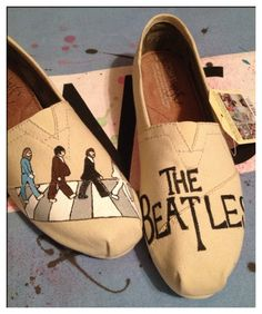 @Chelsea Knott !!!!! Beatles Custom Toms Shoes by CustomTOMSbyJC on Etsy