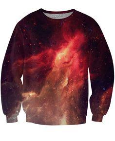 Crimson Nebula Crewneck Sweatshirt