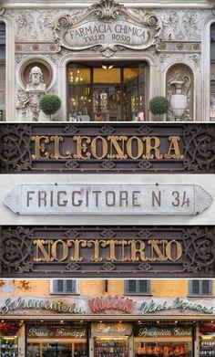 Italian Typography Design: Photos from Louise Fili's Book Grafica della Strada