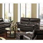 Simmons Upholstery - Soho Bonded Leather Loveseat In Espresso - 9515-L