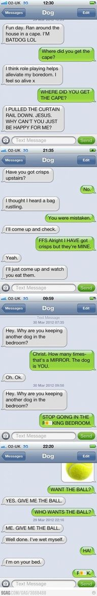 my biggest wish is that my dogs could text!