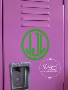 6 inch Vine or Circle Monogram Decal by DBYDesignedByYou on Etsy, $7.00