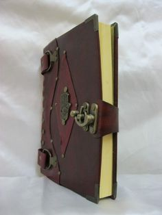 Handmade leather journal - on Etsy