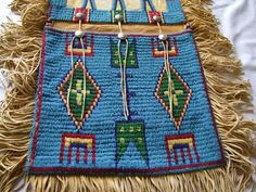Indian Beaded Saddle Bag - May 2013 Native American Artifacts, Native American Beading, Native American Indians, Horse Mask, Plains Indians, Indian People, Horse Gear, Nativity Crafts, Bead Loom Bracelets
